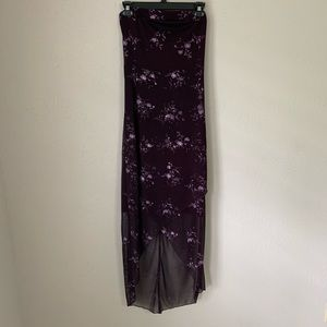 Charlotte Russe Purple Glitter Floral Dress Small
